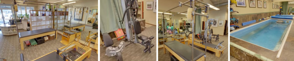 Oasis Physical Therapy and Aquatics - photos of interior, equipiment, and endless pool